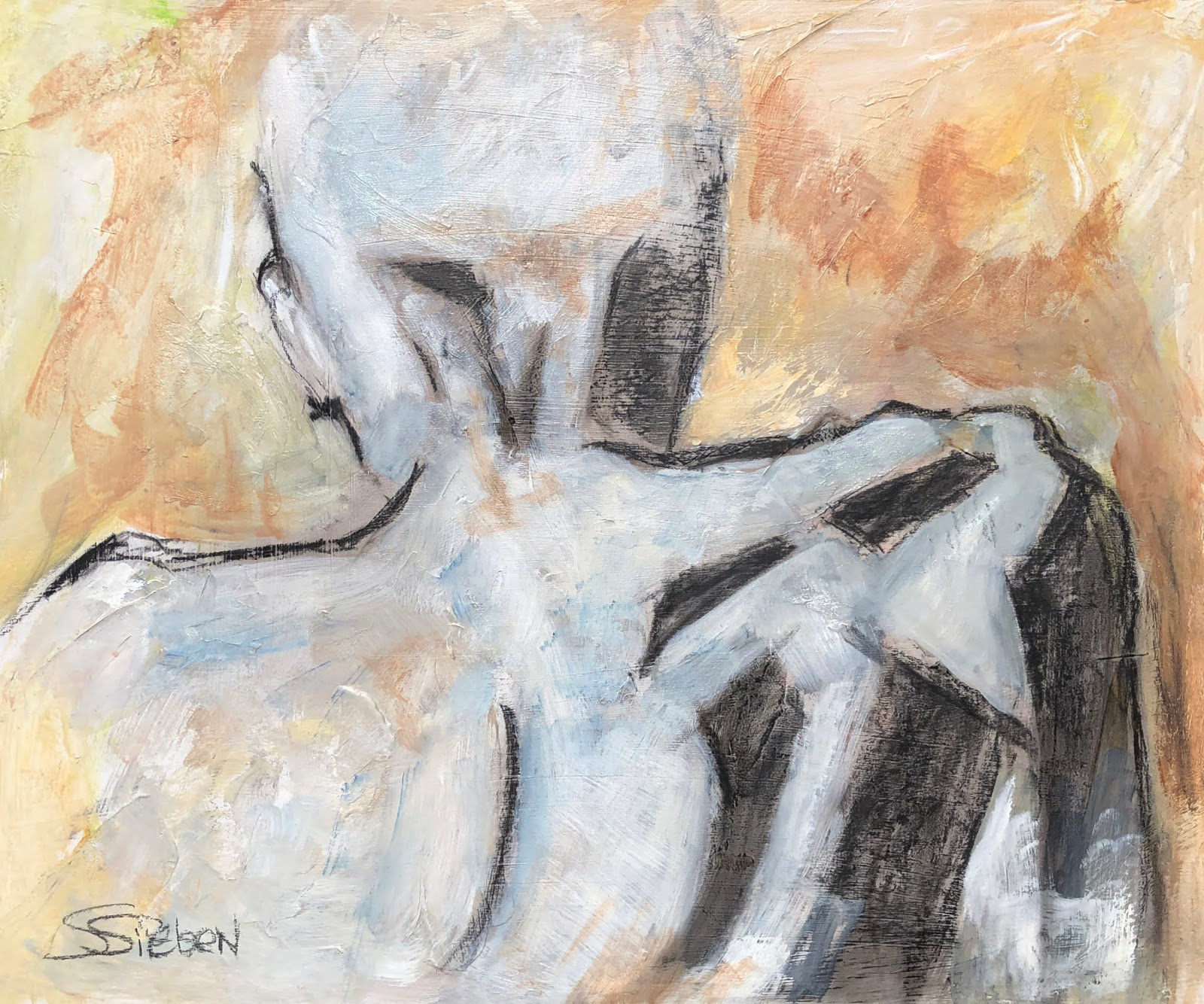 """Where ART Lives Gallery Artists Group Blog: """"'Cold Shoulder"""" - Contemporary  Figurative Painting by Arzona Artist, Sharon Sieben..."""