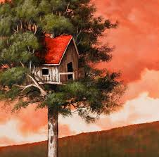 Image result for treehouse painting